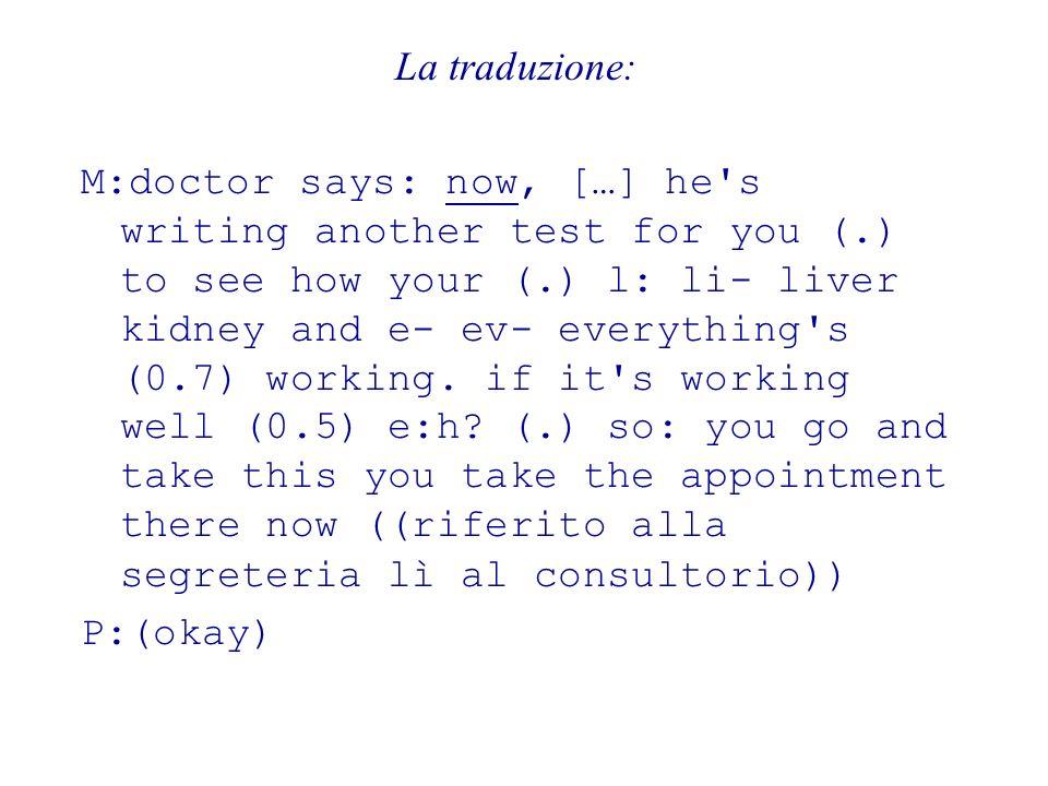 La traduzione: