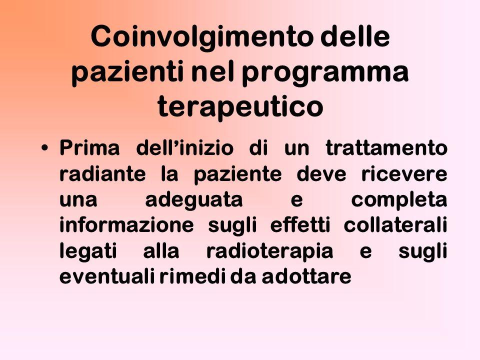 Coinvolgimento delle pazienti nel programma terapeutico