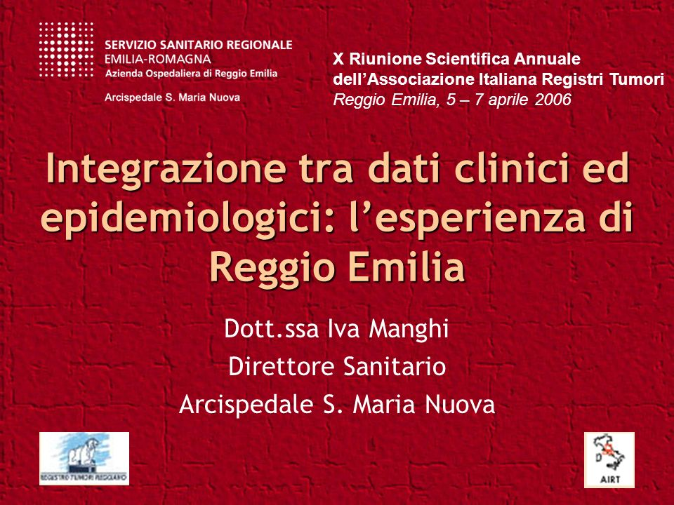 Dott.ssa Iva Manghi Direttore Sanitario Arcispedale S. Maria Nuova