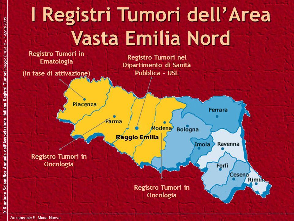 I Registri Tumori dell'Area Vasta Emilia Nord