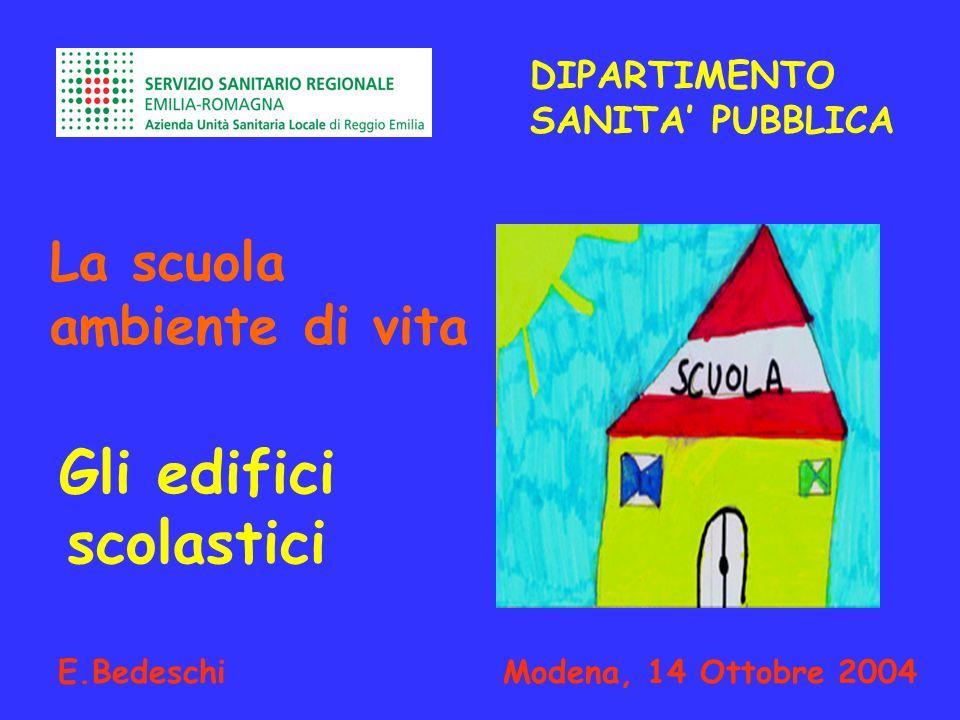Gli edifici scolastici E.Bedeschi Modena, 14 Ottobre 2004