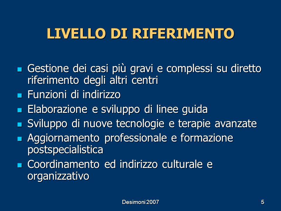 LIVELLO DI RIFERIMENTO