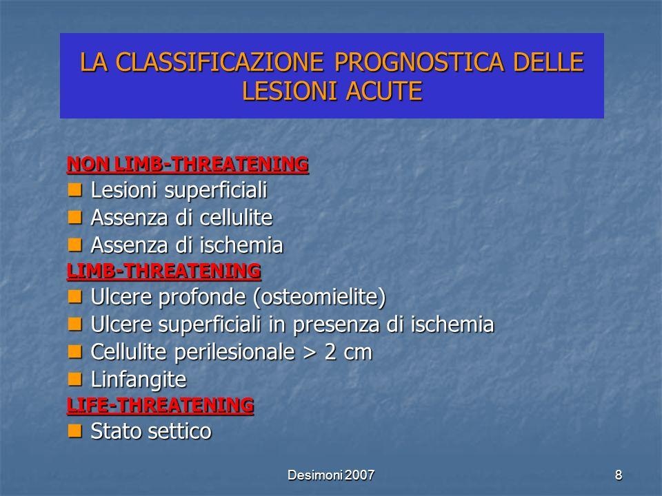 LA CLASSIFICAZIONE PROGNOSTICA DELLE LESIONI ACUTE