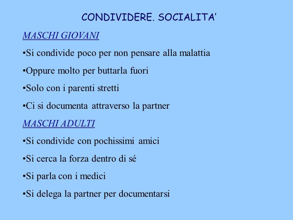 CONDIVIDERE. SOCIALITA'
