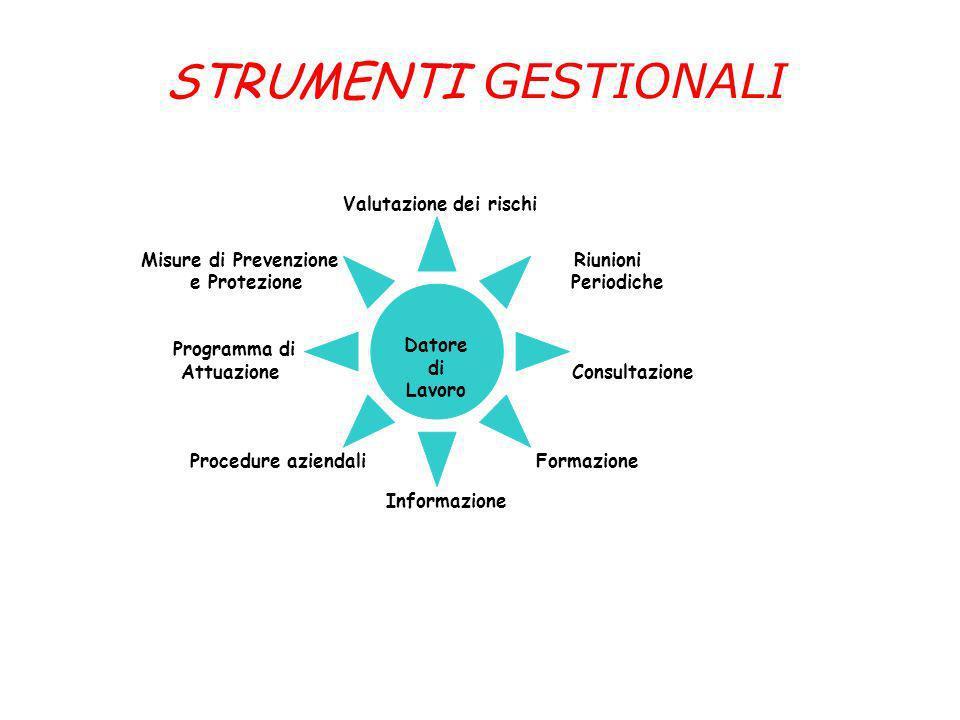 STRUMENTI GESTIONALI Misure di Prevenzione Riunioni