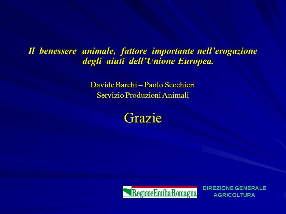 Il benessere animale, fattore importante nell'erogazione degli aiuti dell'Unione Europea.