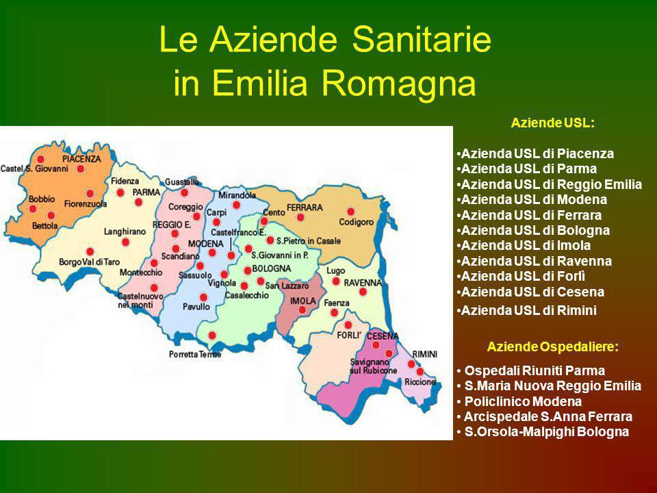Le Aziende Sanitarie in Emilia Romagna