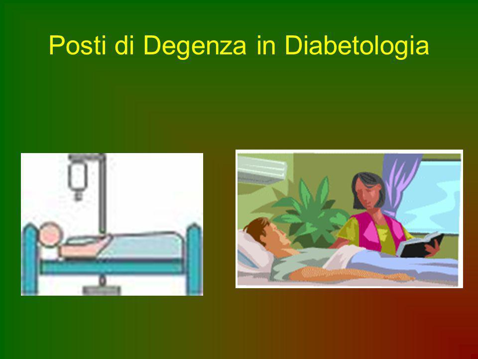 Posti di Degenza in Diabetologia
