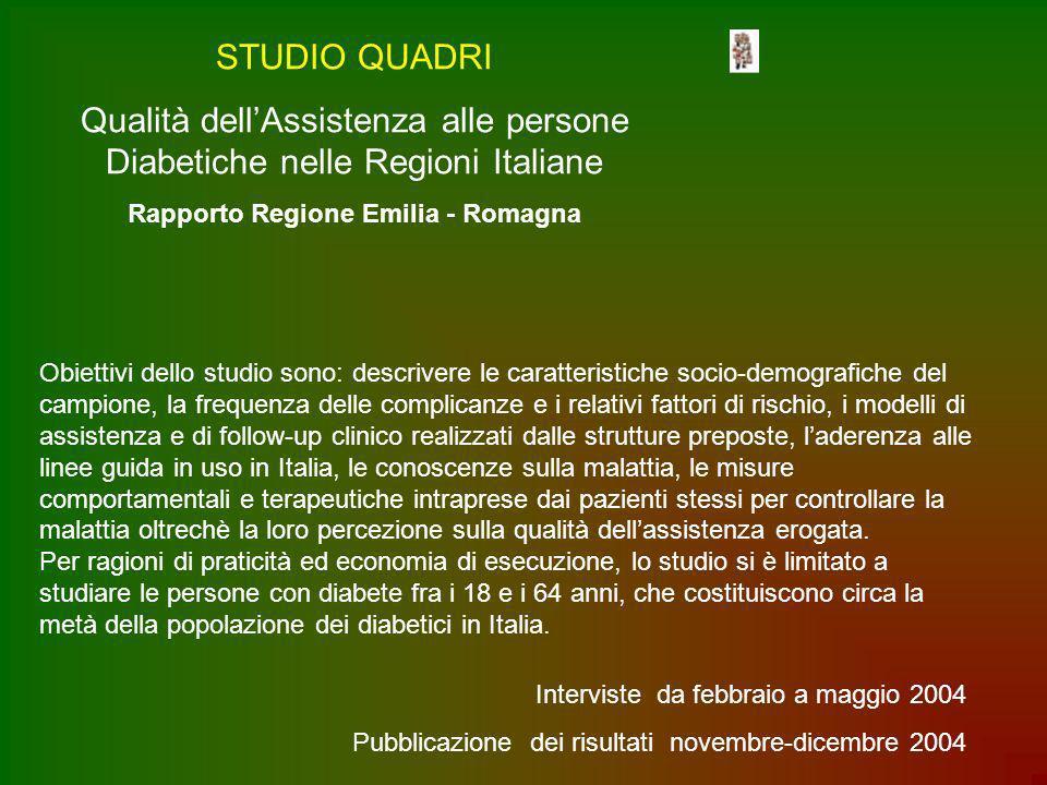 Qualità dell'Assistenza alle persone Diabetiche nelle Regioni Italiane