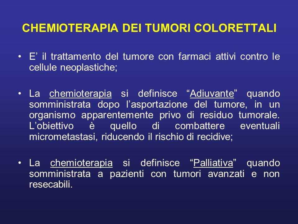 CHEMIOTERAPIA DEI TUMORI COLORETTALI