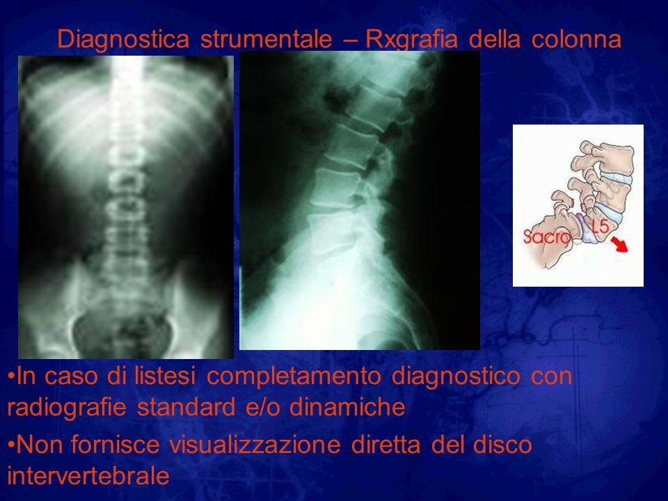 Diagnostica strumentale – Rxgrafia della colonna