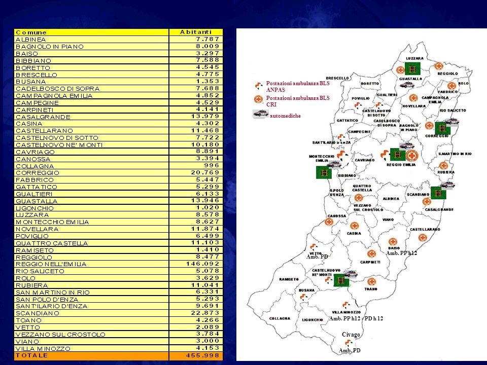 H Civago Postazioni ambulanza BLS ANPAS CRI automediche Amb. PP h12