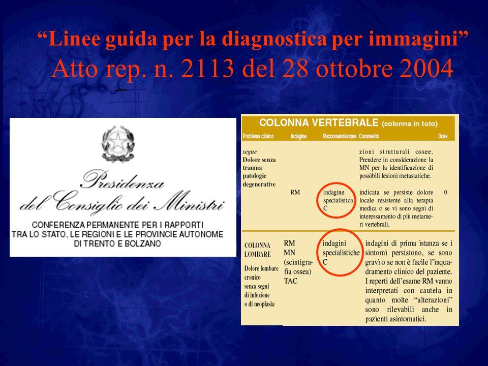Linee guida per la diagnostica per immagini Atto rep. n