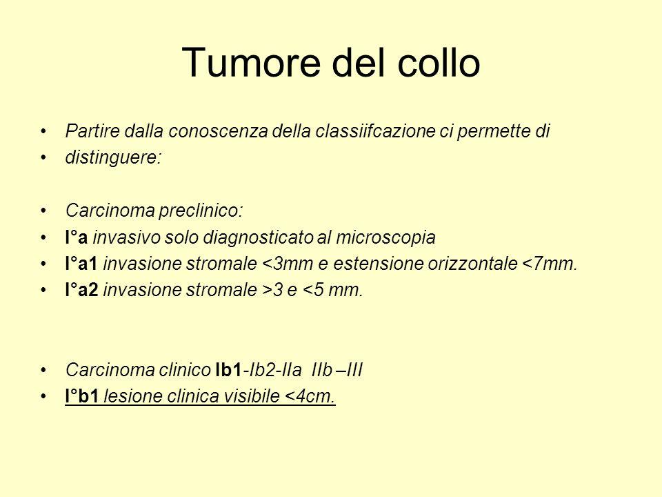 Tumore del collo Partire dalla conoscenza della classiifcazione ci permette di. distinguere: Carcinoma preclinico:
