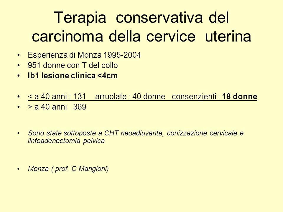 Terapia conservativa del carcinoma della cervice uterina