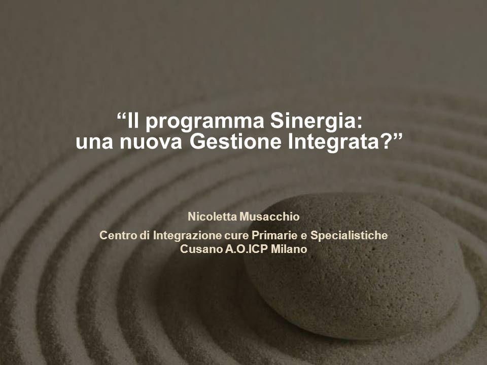 Il programma Sinergia: una nuova Gestione Integrata