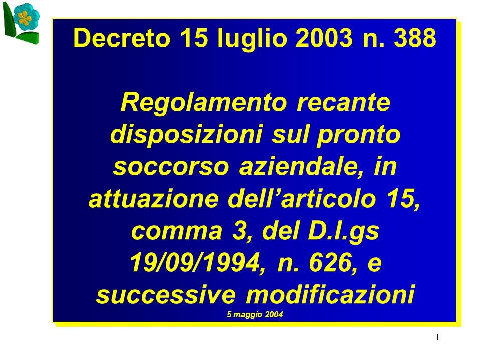 Decreto 15 luglio 2003 n. 388