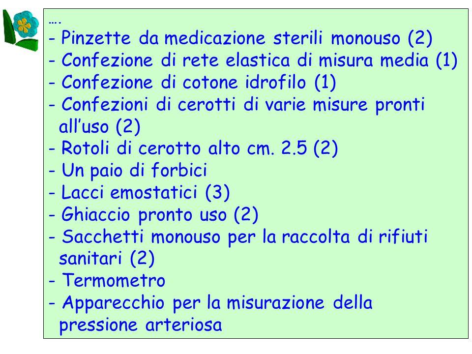 - Pinzette da medicazione sterili monouso (2)