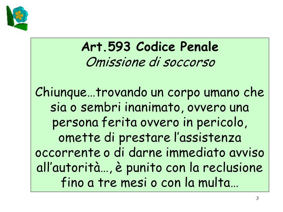 Art.593 Codice Penale Omissione di soccorso.