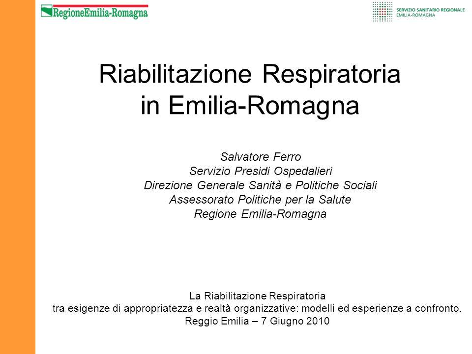 Riabilitazione Respiratoria in Emilia-Romagna