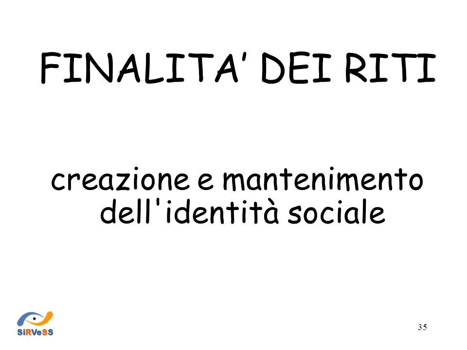 creazione e mantenimento dell identità sociale