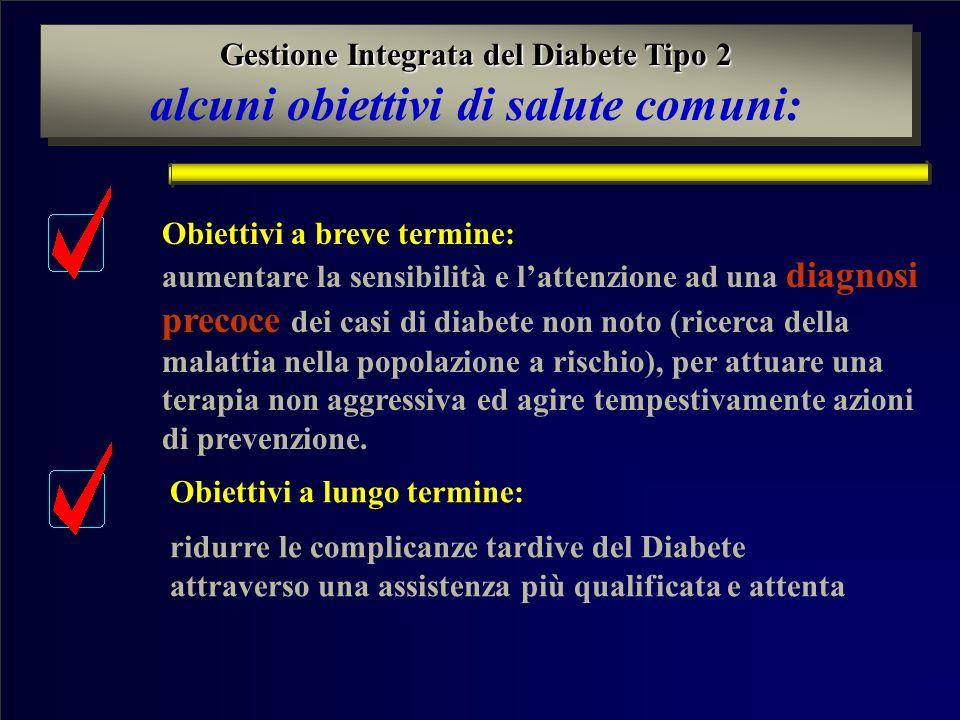 alcuni obiettivi di salute comuni: