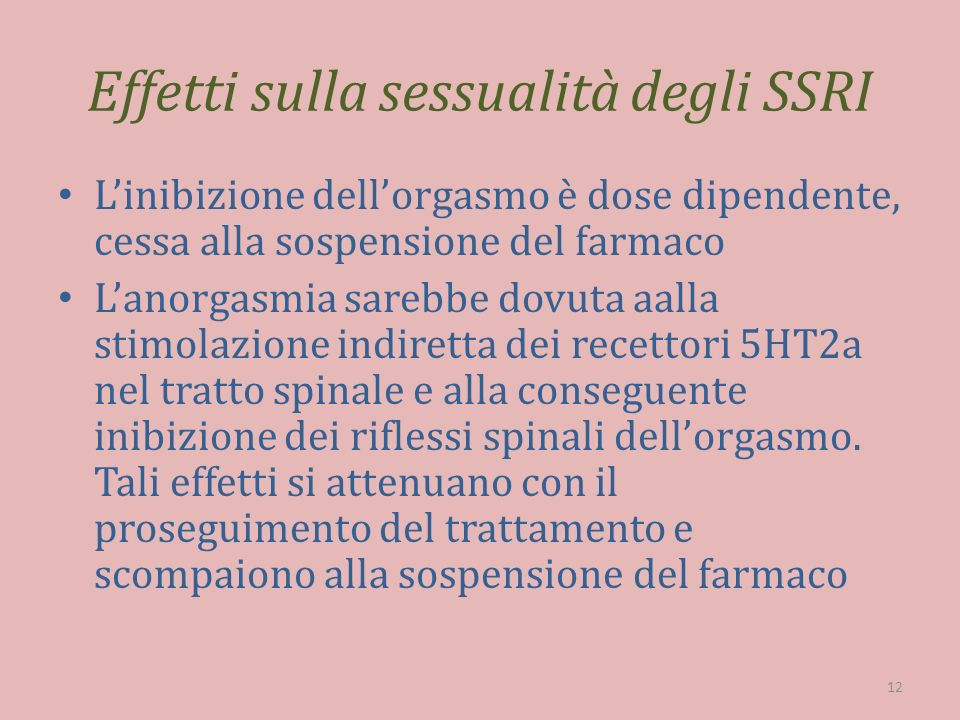 Effetti sulla sessualità degli SSRI