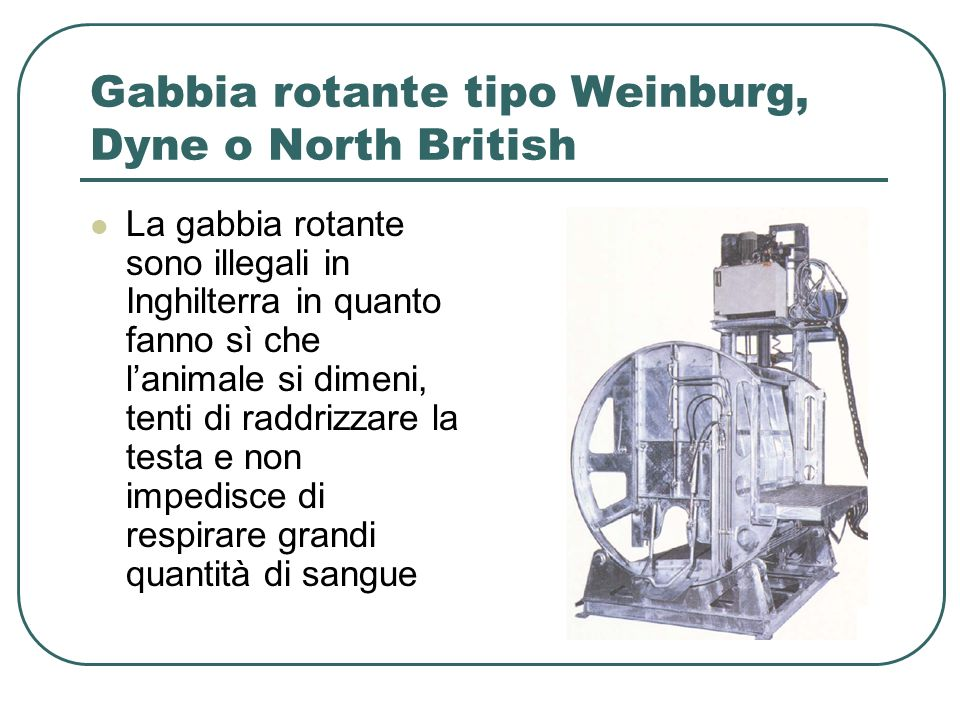Gabbia rotante tipo Weinburg, Dyne o North British