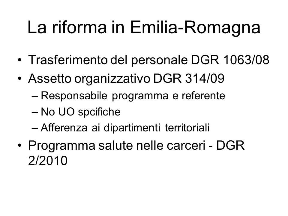 La riforma in Emilia-Romagna