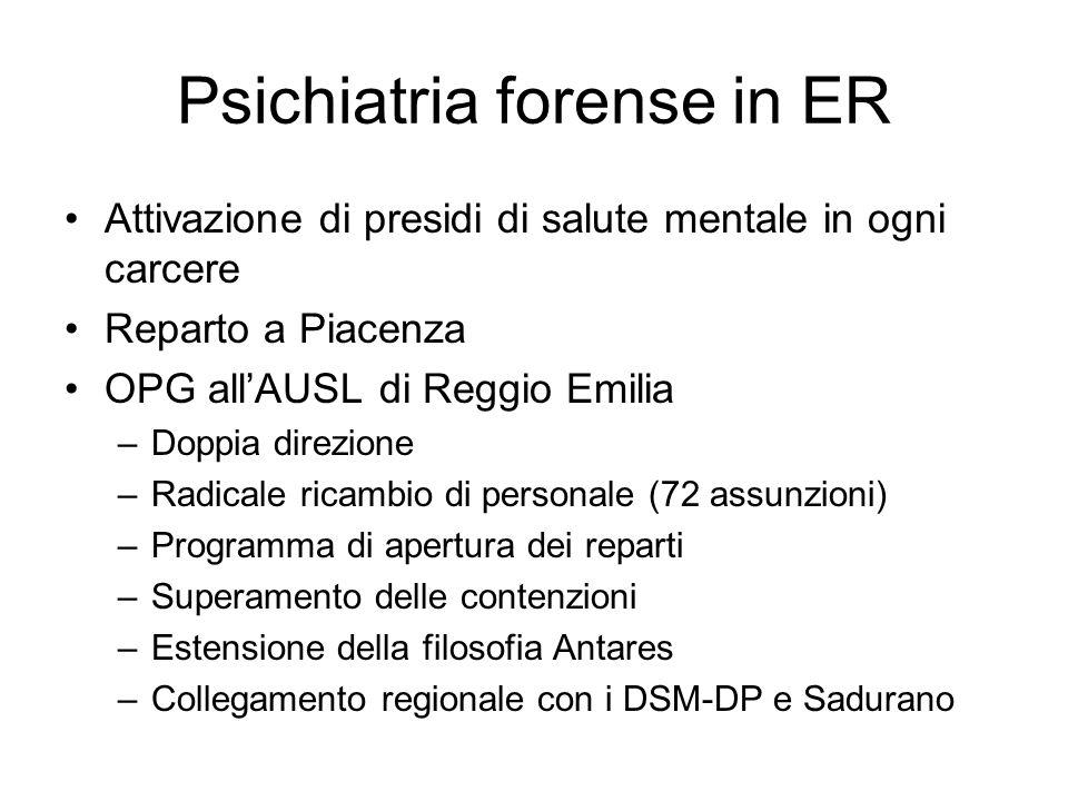 Psichiatria forense in ER