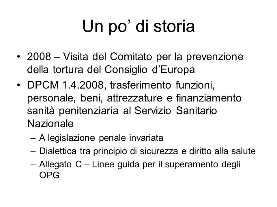 Un po' di storia 2008 – Visita del Comitato per la prevenzione della tortura del Consiglio d'Europa.