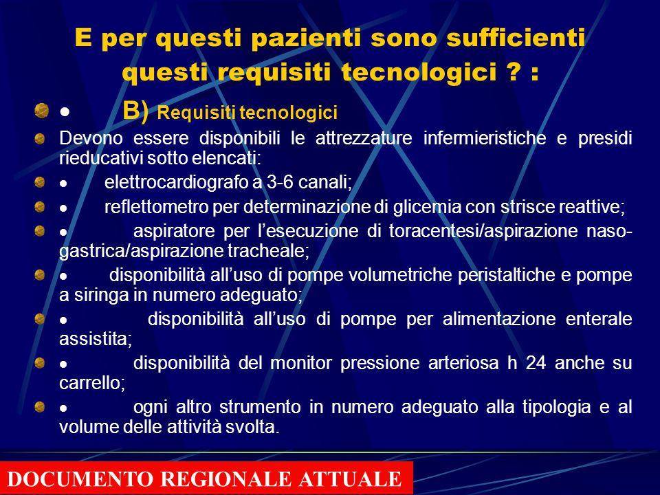 · B) Requisiti tecnologici