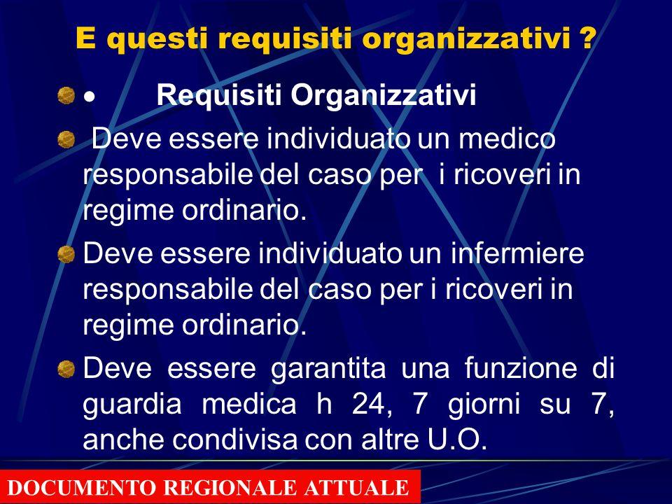 E questi requisiti organizzativi