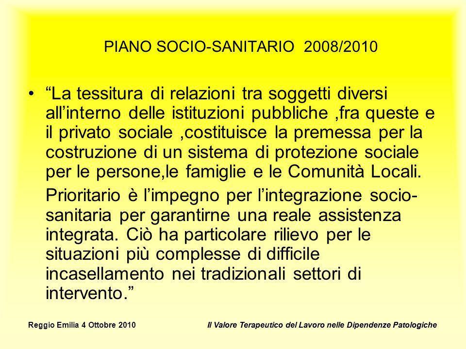 PIANO SOCIO-SANITARIO 2008/2010