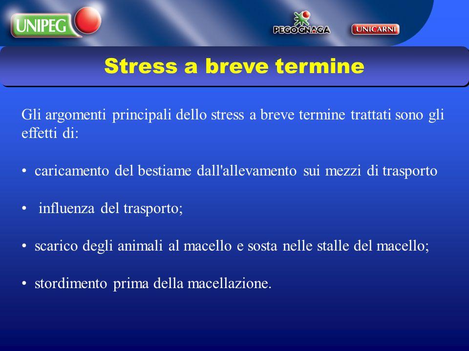 Stress a breve termine Gli argomenti principali dello stress a breve termine trattati sono gli effetti di:
