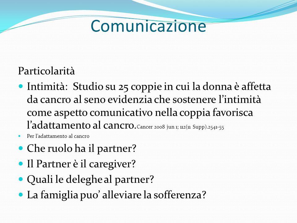 Comunicazione Particolarità