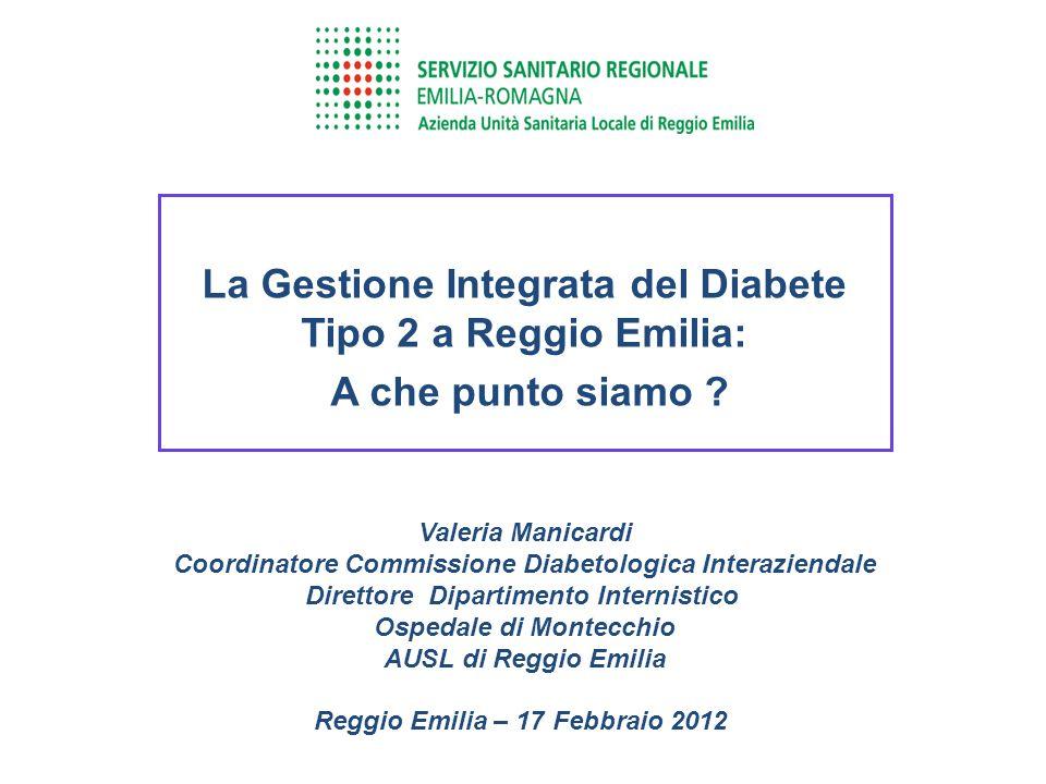La Gestione Integrata del Diabete Tipo 2 a Reggio Emilia: