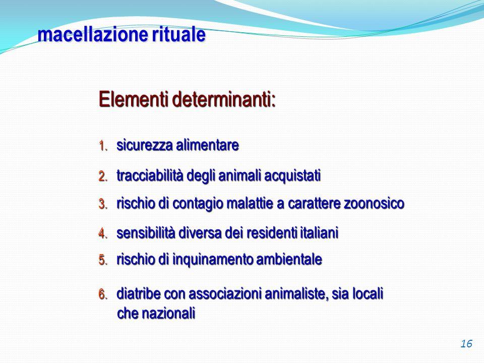 Elementi determinanti: