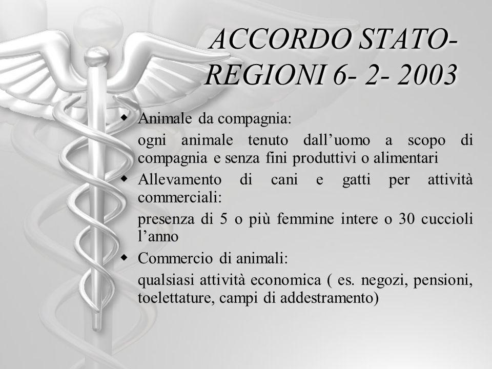 ACCORDO STATO-REGIONI 6- 2- 2003