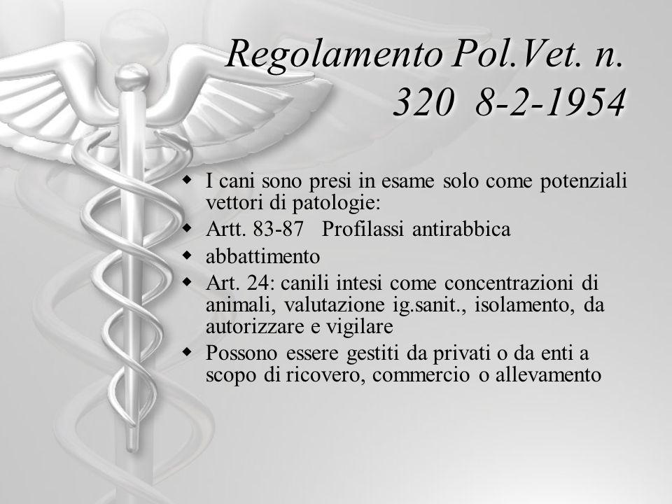 Regolamento Pol.Vet. n. 320 8-2-1954