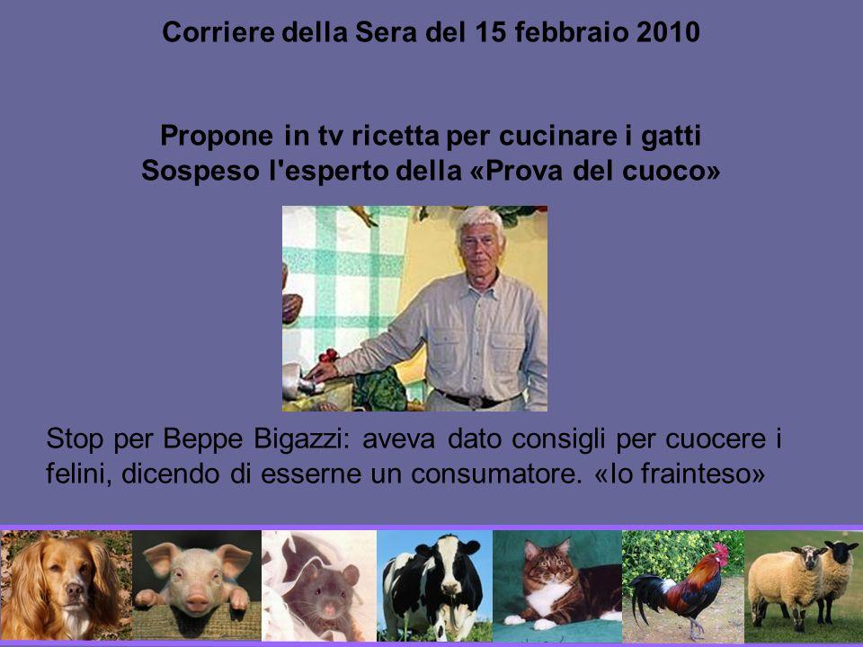 Corriere della Sera del 15 febbraio 2010