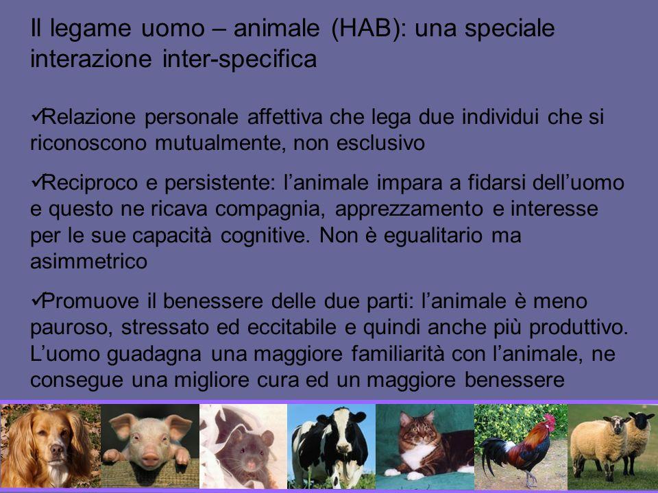 Il legame uomo – animale (HAB): una speciale interazione inter-specifica