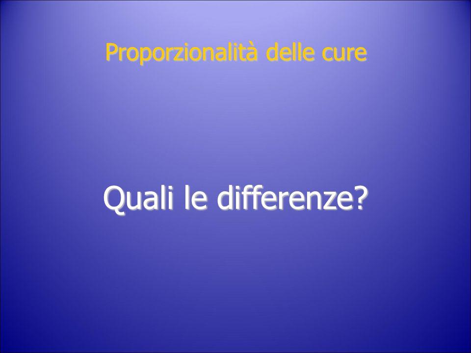 Proporzionalità delle cure