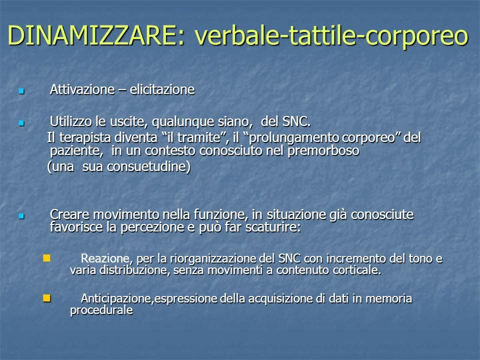 DINAMIZZARE: verbale-tattile-corporeo