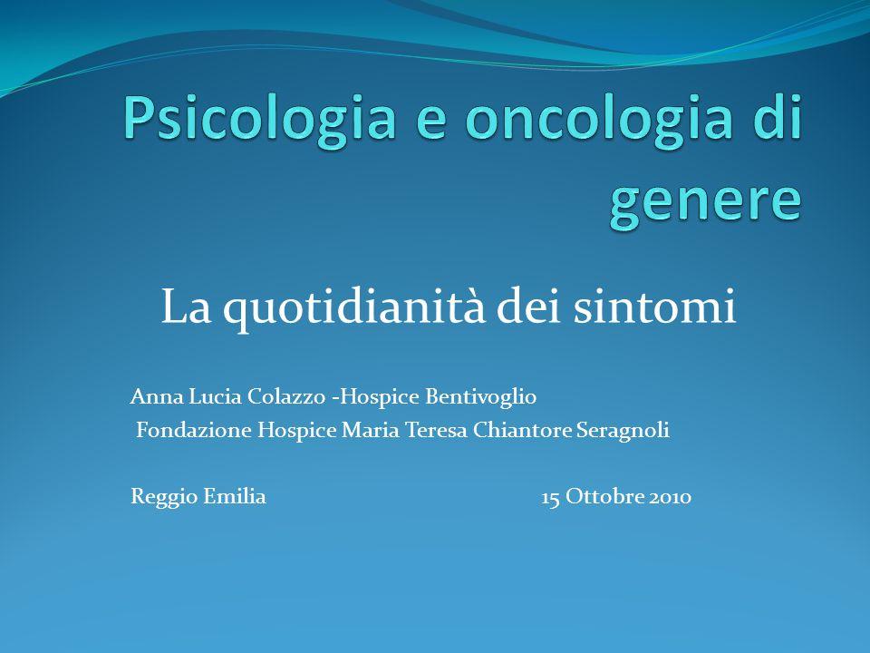 Psicologia e oncologia di genere