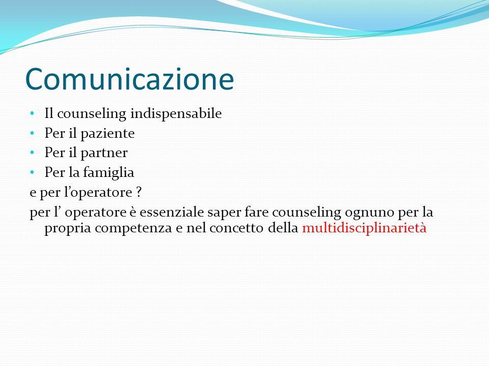 Comunicazione Il counseling indispensabile Per il paziente
