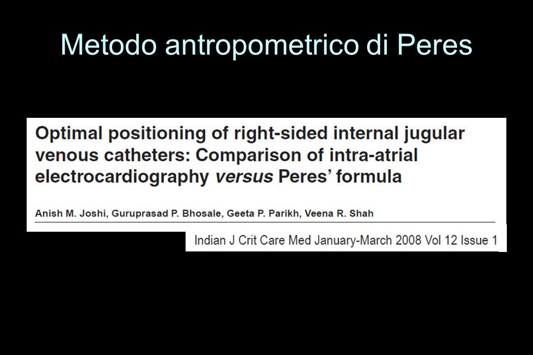 Metodo antropometrico di Peres