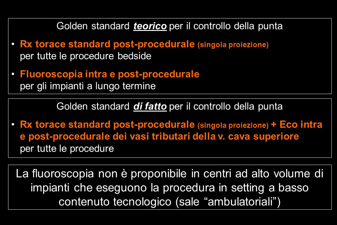Golden standard teorico per il controllo della punta