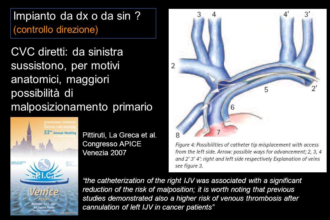 Impianto da dx o da sin (controllo direzione)