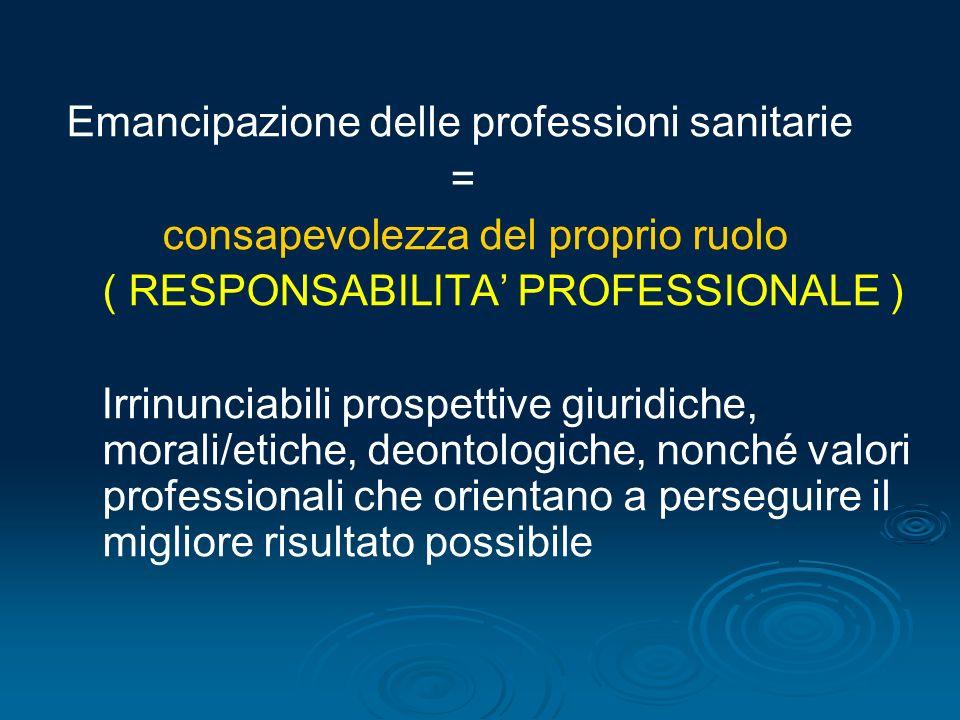 Emancipazione delle professioni sanitarie